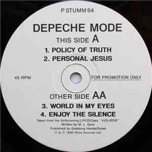 Depeche Mode - Policy Of Truth / Personal Jesus / World In My Eyes / Enjoy The Silence download